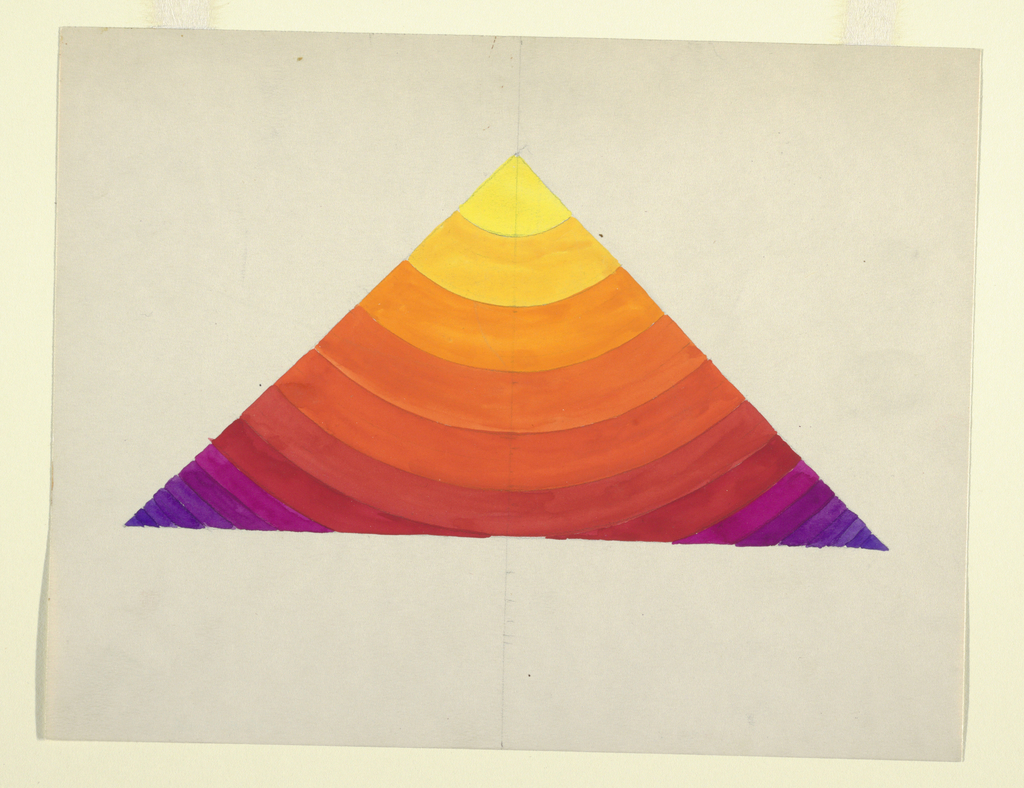 Colorful geometric study in shape of triangle.