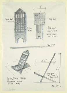"Drawing, Chair Design: ""Penthouse"", 1985"