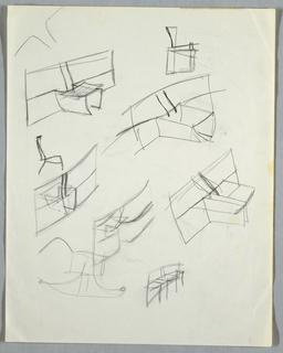 Drawing, Seven initial concept stu, n.d.