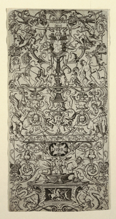 Print, Ornament Panel with Mars