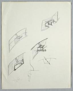 Drawing, Six initial concept studi, n.d.