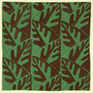 Drawing, Textile Design: Leaf Pattern
