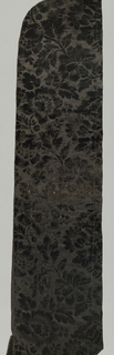 black figured velvet [probably dyed] - design showing all-over floral designs - selvage present