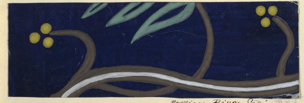 Drawing, Textile Design: Riva See (Riva Lake)
