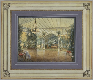 Drawing, A Russian Winter Garden