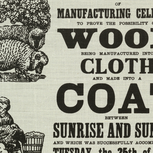 Reproduction of a broadside reading, 