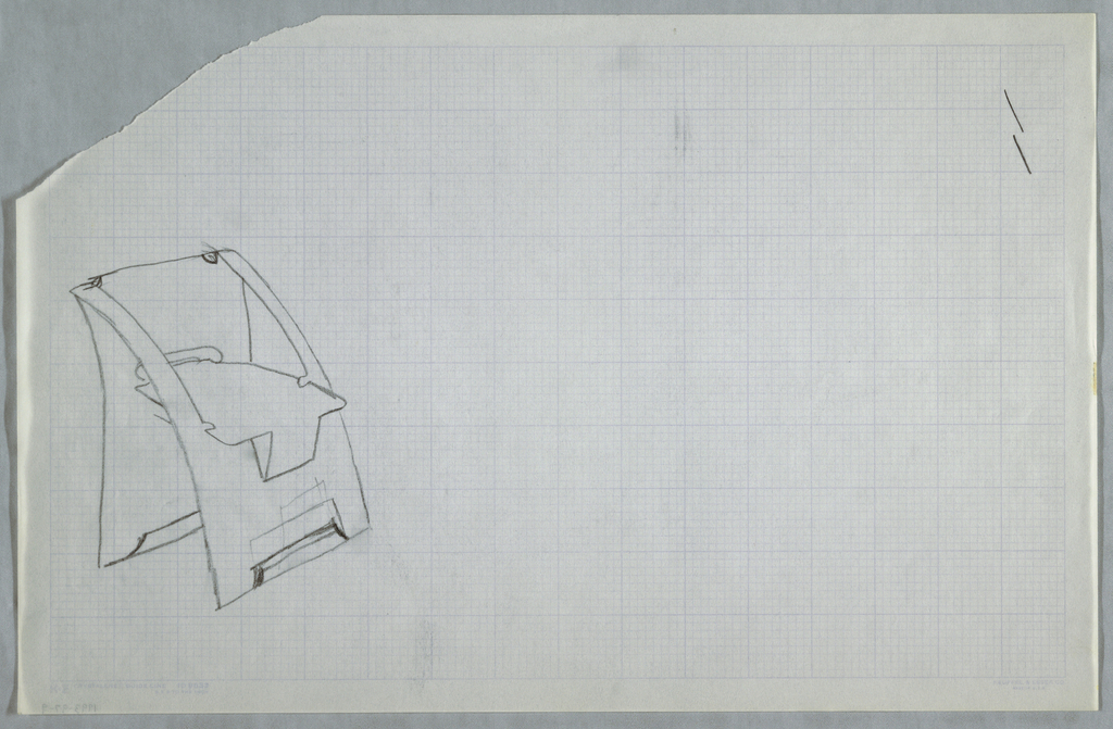 Drawing, Chair sketch, ca. 1982