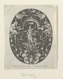 Print, Jupiter, from Grotesques à fond noir, Divinités et Allégories (Grotesques on Black Ground, Divinities and Allegories)