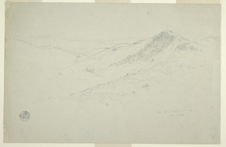 Drawing, Landscape, Vermont, October 1863
