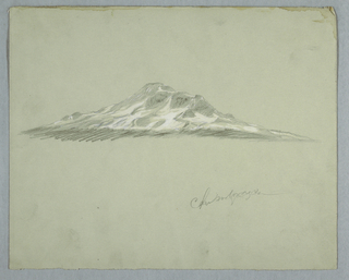 Horizontal view of the snow-covered peak of Mount Chimborazo, seen from same point as in 1917-4-1337.