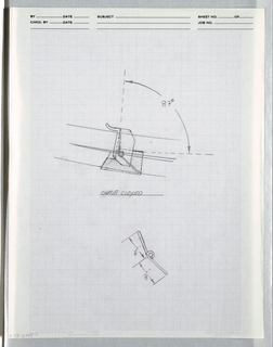 "Drawing, One view of bracket for "", ca. 1982"