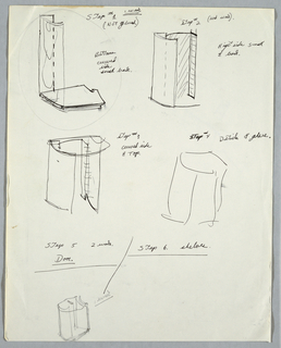 Drawing, Five initial concept stud, n.d.