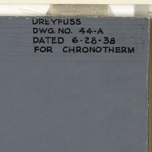 Design for chronotherm in gray.