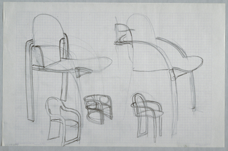 Drawing, Chair Design, ca. 1982