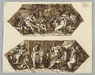 Drawing, Orpheus Among the Muses; Orpheus Playing the Lyre