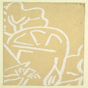 Drawing, Design for Textile with Cubist Motif