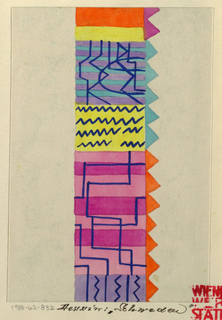 Drawing, Textile Design: Schweden (Sweden)