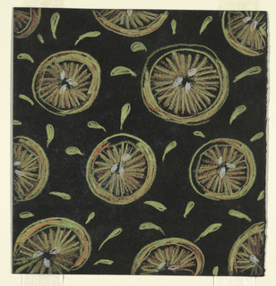 "Drawing, Design for Textile: ""Squirting Grapefruit"""
