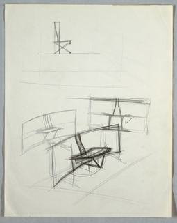 Drawing, Four initial concept stud, n.d.