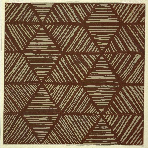 Drawing, Design for Textile: Striped Triangles