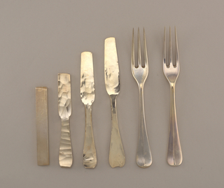 "Ingots to finished handmade ""Hanovarian"" dessert fork"