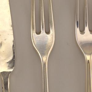 """Ingots to finished handmade """"Hanovarian"""" dessert fork"""
