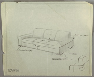 Drawing, Sofa, 1934–1935