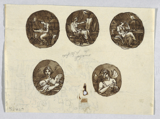 Drawing, Project for Painted Medallions, 1810–20
