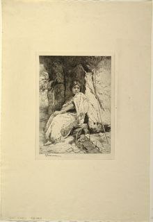 Print, The Empty Cradle, ca. 1880