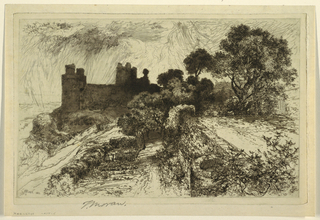 Print, Harlech Castle, North Wales