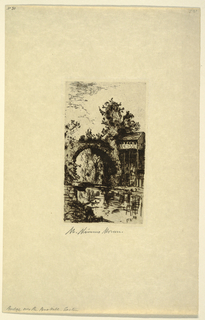 Print, Bridge over the Bushkill River, Easton, Pennsylvania