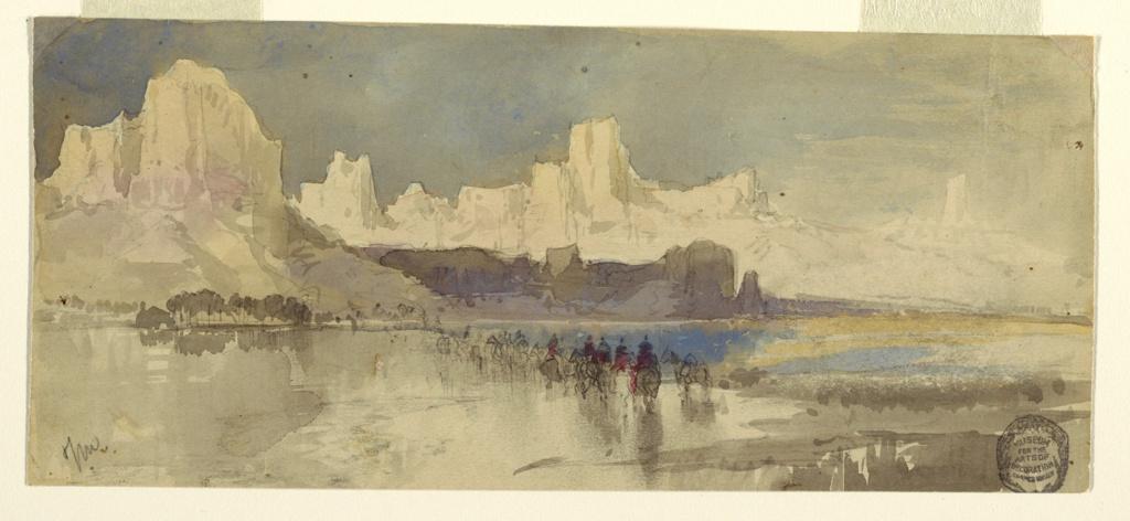 Drawing, Canyon of the Rio Virgin, South Utah