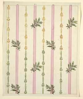 Drawing, Textile Design: Vertical