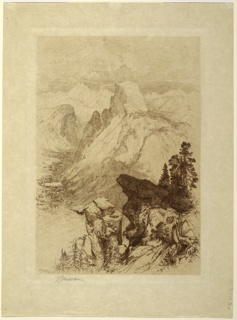 Print, The South Dome, Yosemite Valley