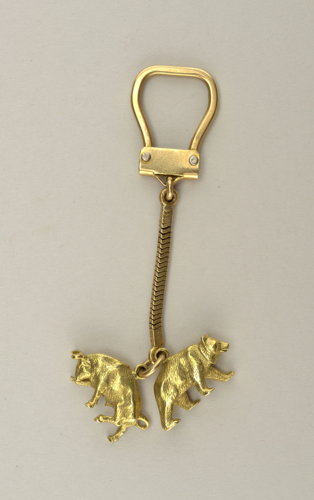 Bull and bear key chain Key Chain, 1960–65