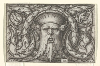 Print, Panel with a Mascaron, 1543