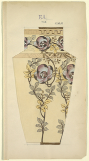Drawing, Design for a Vase