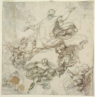 Drawing, Glorification of St. Filippo Neri