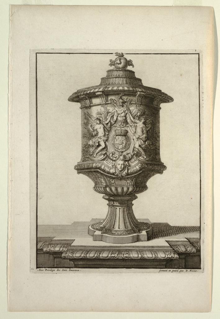 Print, Plate in Vasses de la Maison Royalle de L'oo Nouvellement (Vessels of the Royal House of L'oo)
