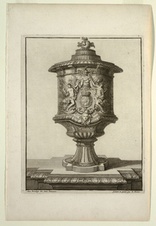 Print, Plate in Vasses de la Maison Royalle de L'oo Nouvellement (Vessels of the Royal House of L'oo)