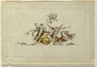 Drawing, Peace in a chariot, Sala di Recezione, Palazzo Quirinale, Rome