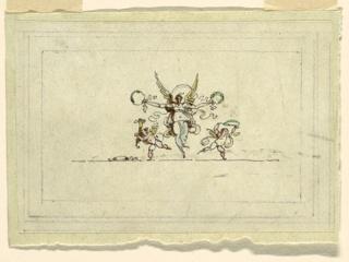 Drawing, Victory with a Garland, Sala di Recezione, Palazzo Quirinale, Rome