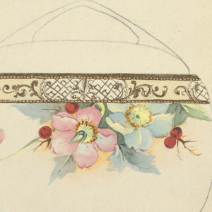 Drawing, Design for a Teacup