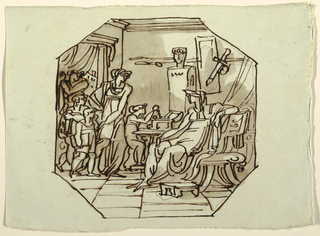 Drawing, Cornelia, Mother of the Gracchi, Palazzo Cavina, Faenza, 1816