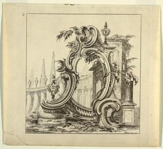 Print, Rococo Ornament