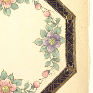 Drawing, Design for an Octagonal Plate