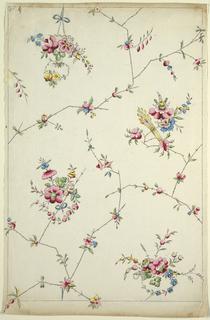 Drawing, Printed Textile Design, ca. 1801