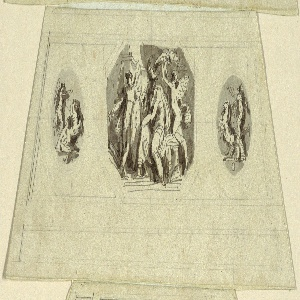 Drawing, Peace, Vaulted Panel, Sala d' Onore and the Appartmento Napoleonico, Palazzo Quirinale, Rome