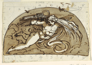 Drawing, Summer, Lunette for Ceiling, Sala Ottagonale, Palazzo Milzetti, Faenza