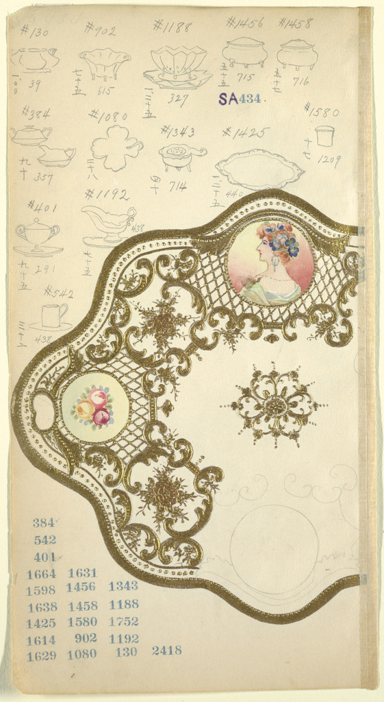 Drawing, Design for a Platter